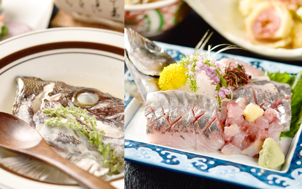 新鮮な日本海の魚介類